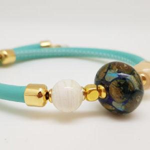 Bracelets et bagues en perle de verre de Murano