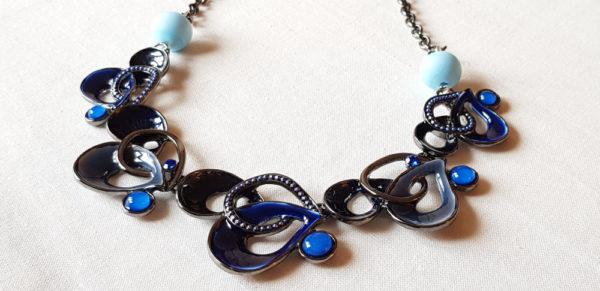 perles bleu et turquoises en verre de Murano
